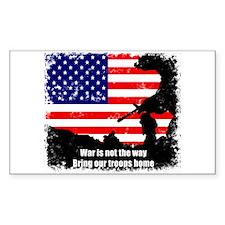 Anti War Sticker (Rect.)