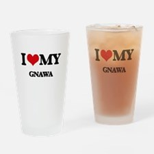 I Love My GNAWA Drinking Glass