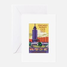 Chicago Poster 2 Greeting Cards (Pk of 10)