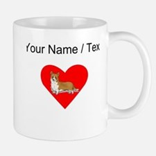 Custom Pembroke Welsh Corgi Heart Mugs