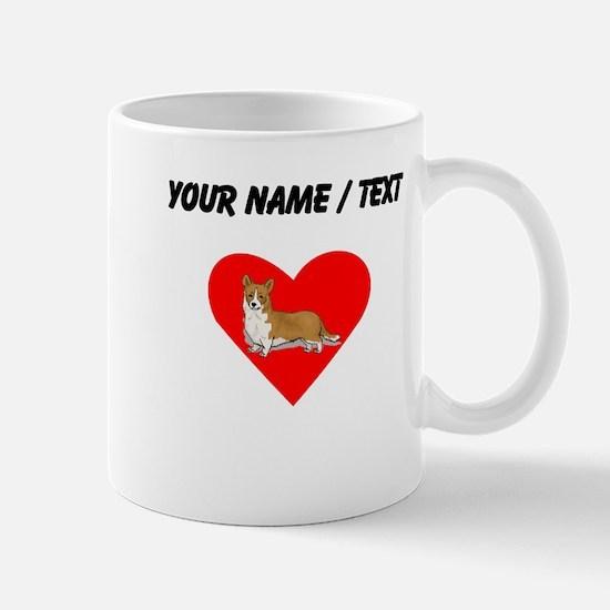 Custom Pembroke Welsh Corgi Heart Mugs
