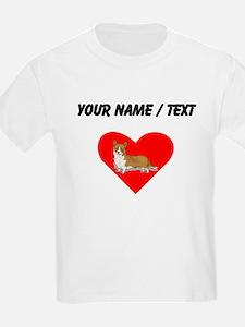 Custom Pembroke Welsh Corgi Heart T-Shirt