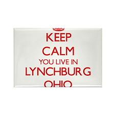 Keep calm you live in Lynchburg Ohio Magnets