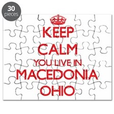 Keep calm you live in Macedonia Ohio Puzzle