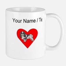Custom Cavalier King Charles Spaniel Heart Mugs