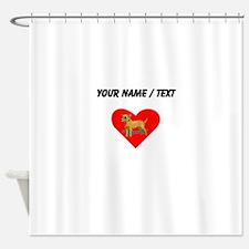 Custom Chihuahua Heart Shower Curtain