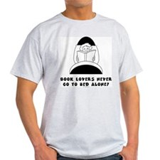 Book Lovers Bed-Female<br> Ash Grey T-Shirt