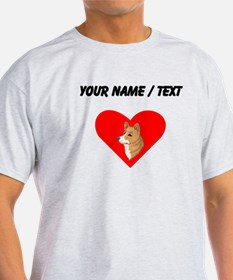 Custom Pembroke Welsh Corgi Heart T-Shirt