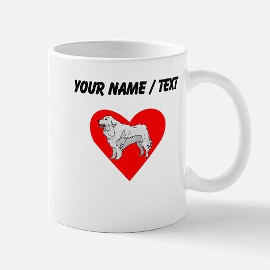 Custom Great Pyrenees Heart Mugs