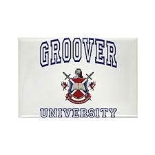 GROOVER University Rectangle Magnet