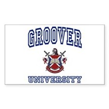 GROOVER University Rectangle Decal