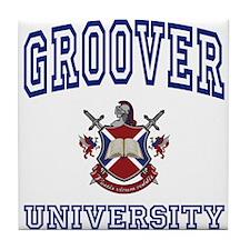 GROOVER University Tile Coaster