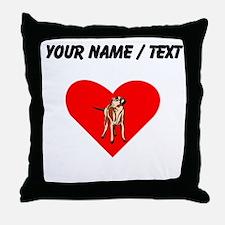 Custom Wirehaired Vizsla Heart Throw Pillow