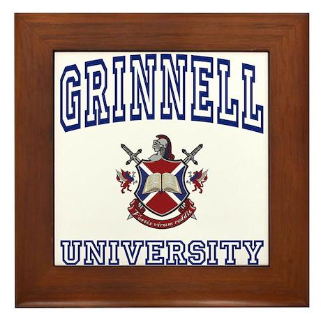 GRINNELL University Framed Tile