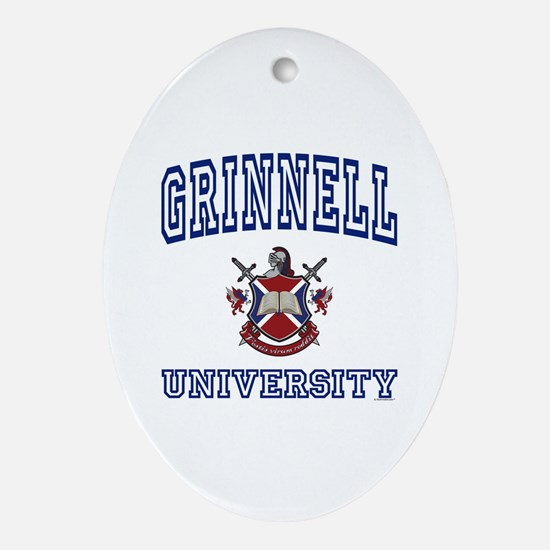 GRINNELL University Oval Ornament