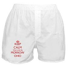 Keep calm you live in Morrow Ohio Boxer Shorts