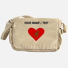 Custom Great Dane Heart Messenger Bag
