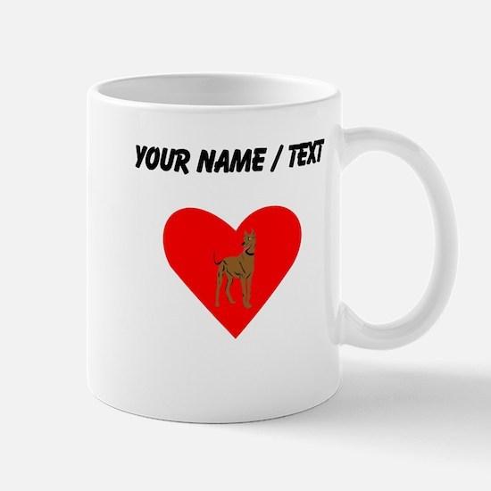 Custom Great Dane Heart Mugs