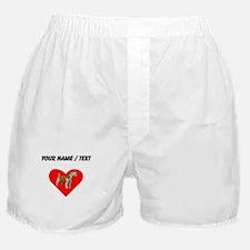 Custom Irish Terrier Heart Boxer Shorts