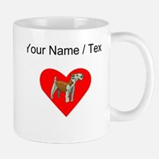 Custom Irish Terrier Heart Mugs