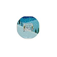 Winter Diva Mini Button