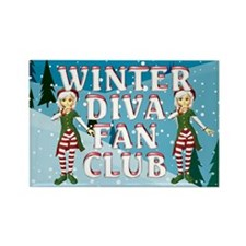 Winter Diva Rectangle Magnet