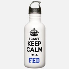 Funny Keep calm fed Water Bottle