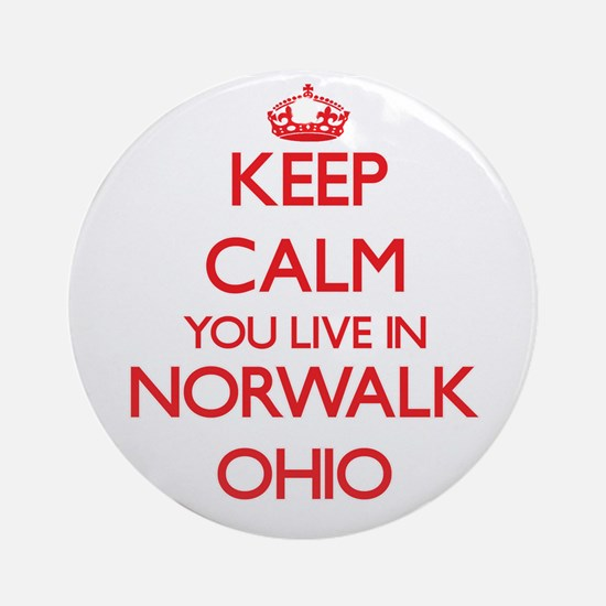 Keep calm you live in Norwalk Ohi Ornament (Round)