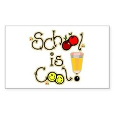 SCHOOL is COOL! Rectangle Decal