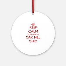 Keep calm you live in Oak Hill Oh Ornament (Round)