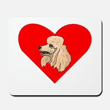 Poodle Heart Mousepad