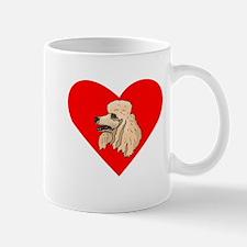 Poodle Heart Mugs