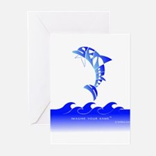 Setareh Blue Dolphin Greeting Cards (Pk of 10)