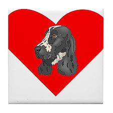English Springer Spaniel Heart Tile Coaster