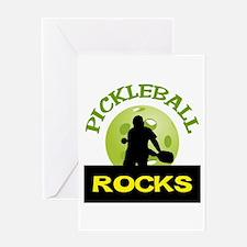 PICKLEBALL ROCKS Greeting Cards