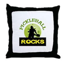PICKLEBALL ROCKS Throw Pillow