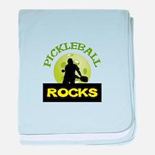 PICKLEBALL ROCKS baby blanket