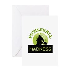 PICKLEBALL MADNESS Greeting Cards