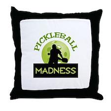 PICKLEBALL MADNESS Throw Pillow