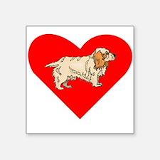 Clumber Spaniel Heart Sticker