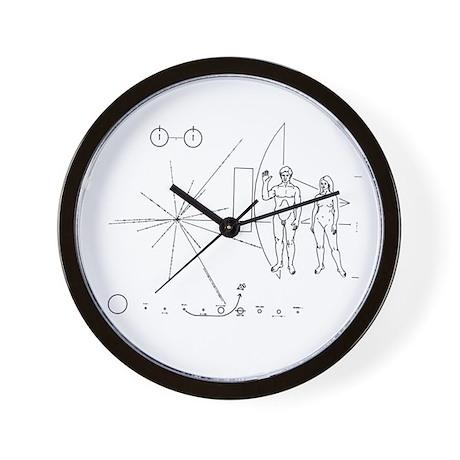 Pioneer 10 Greetings Plaque Wall Clock Space gift