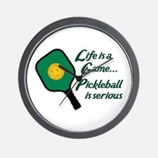 PICKLEBALL IS SERIOUS Wall Clock