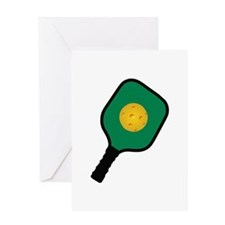 PICKLEBALL AND PADDLE Greeting Cards