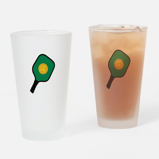 PICKLEBALL AND PADDLE Drinking Glass