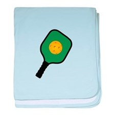 PICKLEBALL AND PADDLE baby blanket