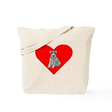 Kerry Blue Terrier Heart Tote Bag