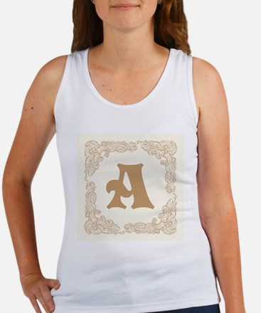 White Personalized Monogram Initial Tank Top