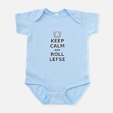 Keep Calm Roll Lefse Infant Bodysuit