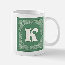 Green Personalized Monogram Initial Mugs
