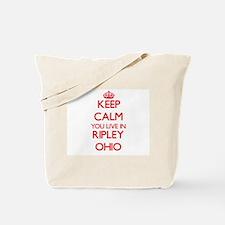 Keep calm you live in Ripley Ohio Tote Bag
